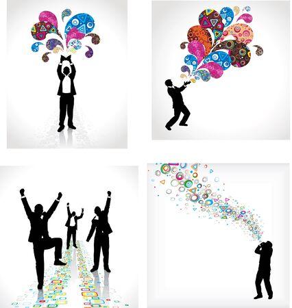 danza moderna: Juego de carteles para las empresas