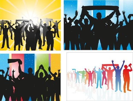 supporter: Set of posters from football fans Illustration