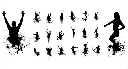 shadow show: Dancing boys and girls