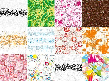 Big set stylish seamless wallpapers Stock Vector - 13061382