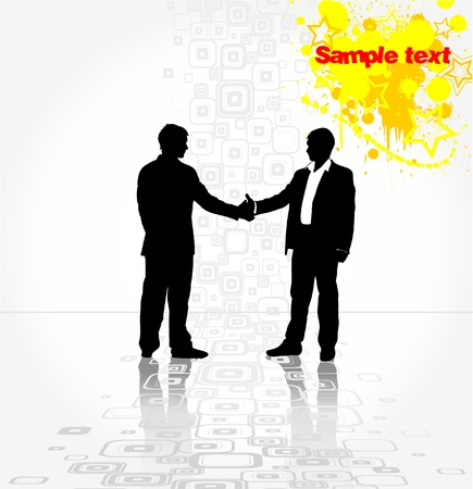 hands shaking: Shaking hands over a deal
