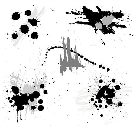 multiple stains: Set stylish splash  Illustration