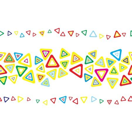 Seamless triangle stripe  Vector