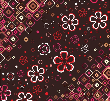 Floral wallpaper Stock Vector - 13114623