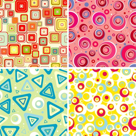 Set seamless backgrounds for babys Vector  Vector