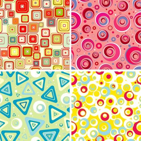 seamlessly: Set seamless backgrounds for babys Vector  Illustration