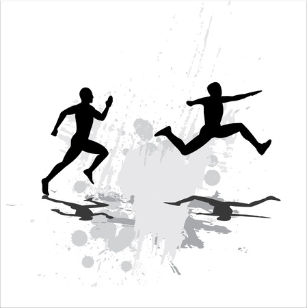jogging track: Jump Illustration