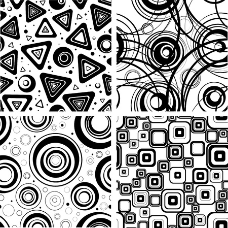 set series: Collection seamless backgrounds