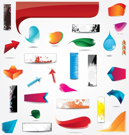 Big Collection of elements for web design Stock Vector - 13114647