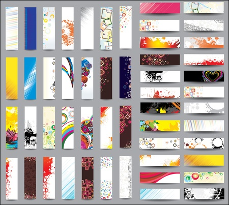 Mix Collection vertical and horizontal banners Stock Vector - 13569226