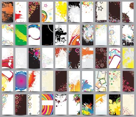 témata: Kolekce vertikální karet na různá témata Ilustrace