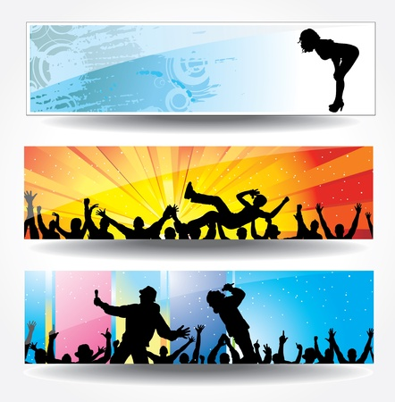 Advertising banners for sports championships and concerts Stock Vector - 13569241