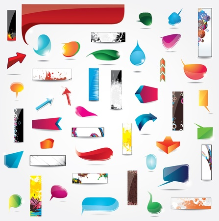 web application: Big Collection of elements for web design Illustration