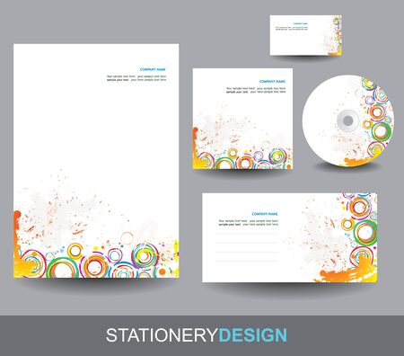 visiting card design: Stationery design set
