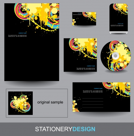 Stationery design set Stock Vector - 15556468