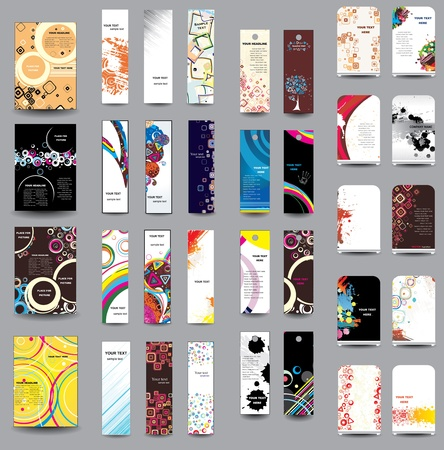 card file: A set of flyers , banners , labels, roll-up Illustration