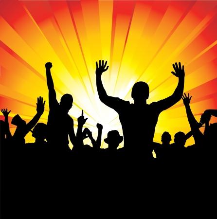 nightclub crowd: Sport fans