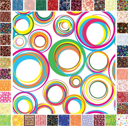 fabric samples: Seamless festive patterns