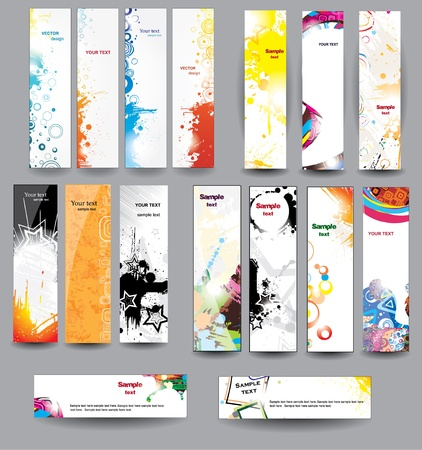 Set glossy banners