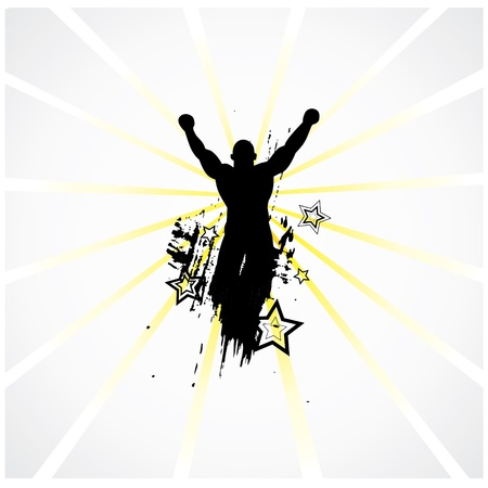 Silhouette of the champion Stock Vector - 16456992