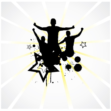 football silhouette: Poster for sports championships and party Illustration