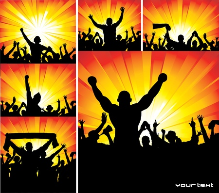 Set of posters for sports championships and music concerts Vector