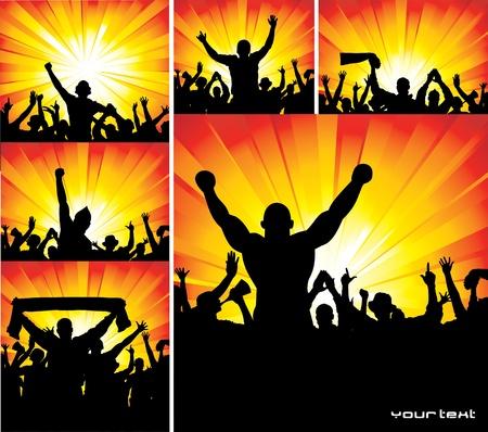 Set van affiches voor sport kampioenschappen en concerten