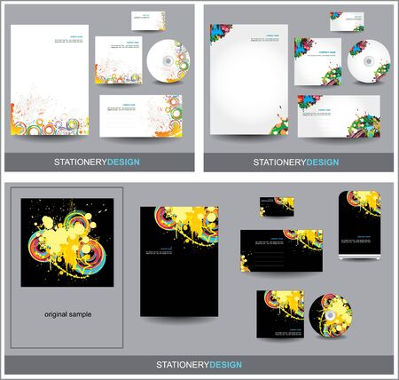 Stationery design sets Vector