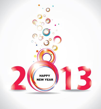 New year 2013 in white background  Abstract poster