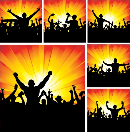 Set of posters for sports championships and concerts Vector