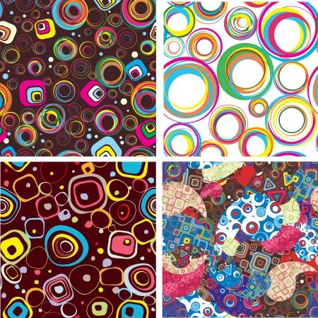 Set seamless festive wallpaper Vector