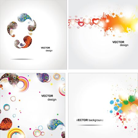 paint splat: Set elegance and universal backgrounds  Vecto Illustration