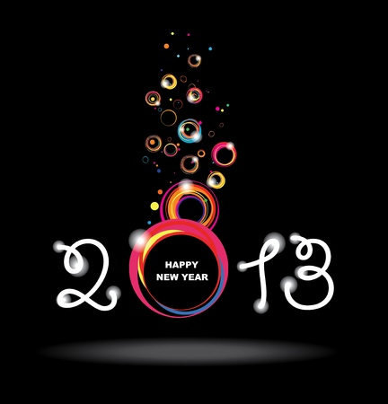 New year 2013 design  Abstract poster  Stock Vector - 16465419