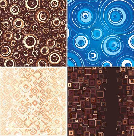 Set of stylish backgrounds Stock Vector - 16477889