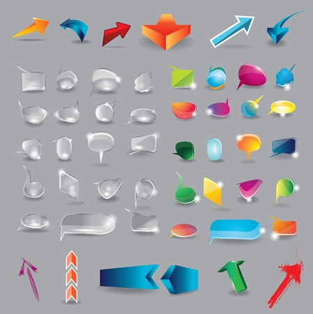 Collection of elements for web design Vector