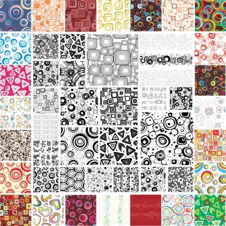 Meng Collection veelkleurige en zwart-wit naadloze texturen