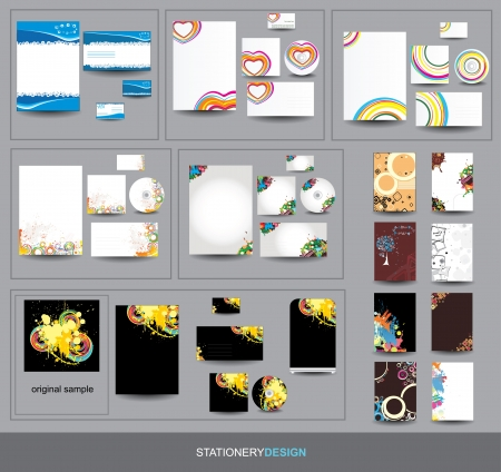 Collection Stationery design Vector