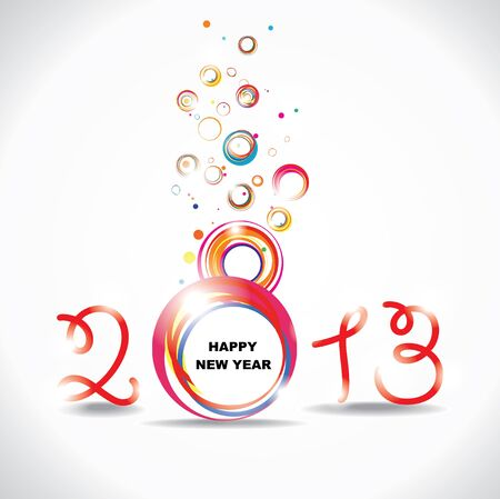 New year 2013   Abstract poster Stock Vector - 16702224