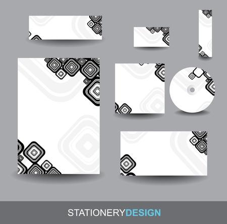 cd label: Stationery design set