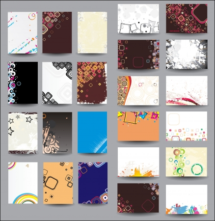 Mix Collection vertical and horizontal posters Illustration