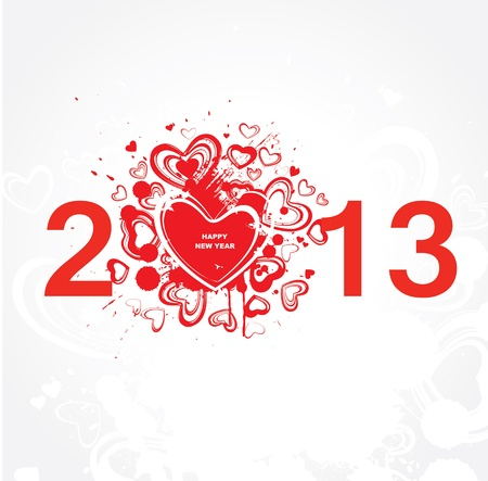 New year 2013   Abstract poster  Vector