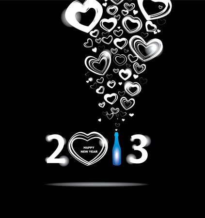 New year 2013 in black background Stock Vector - 18323277