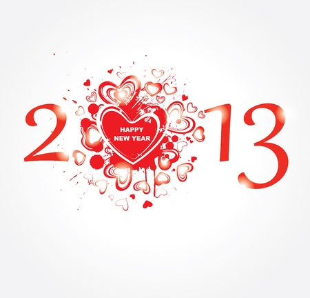 New year 2013   Abstract poster  Stock Vector - 16953084