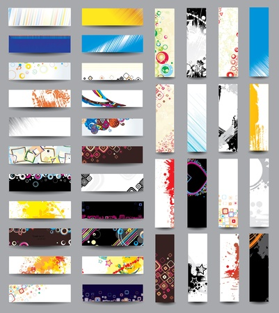 Mix Collection vertical and horizontal headers. Vol 4 Vector