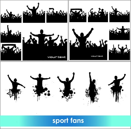 football fan: Advertising banners for sports championships and concerts