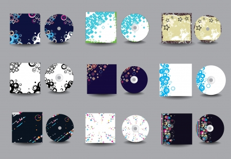 Collection of vector cd cover design Vector