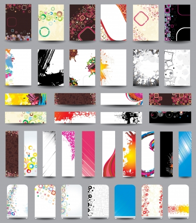 A set of flyers, banners, labels, roll-up Stock Vector - 18855477