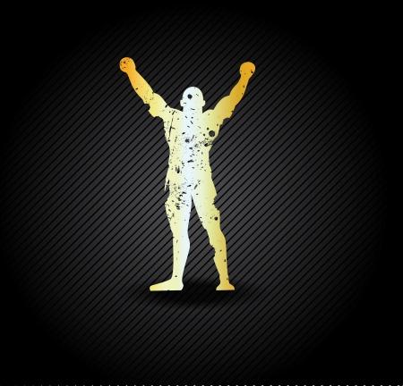 wrestler: Silhouette of the champion