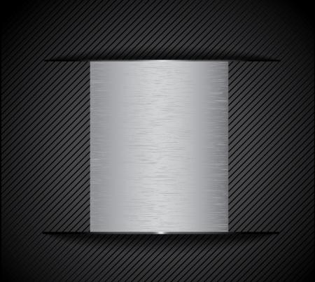 corduroy: chrome metal background