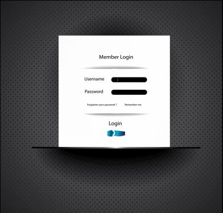 navigation panel: Web site Design Illustration
